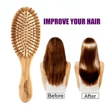 High quality Comb bamboo Airbag massage health care comb carbonized solid wood bamboo cushion anti-static hair combs travel