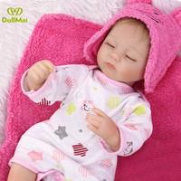 Bebes reborn 42cm Reborn Baby girl Dolls soft Silicone Reborn Bonecas Brinquedos children's day gifts toys bed time plamate