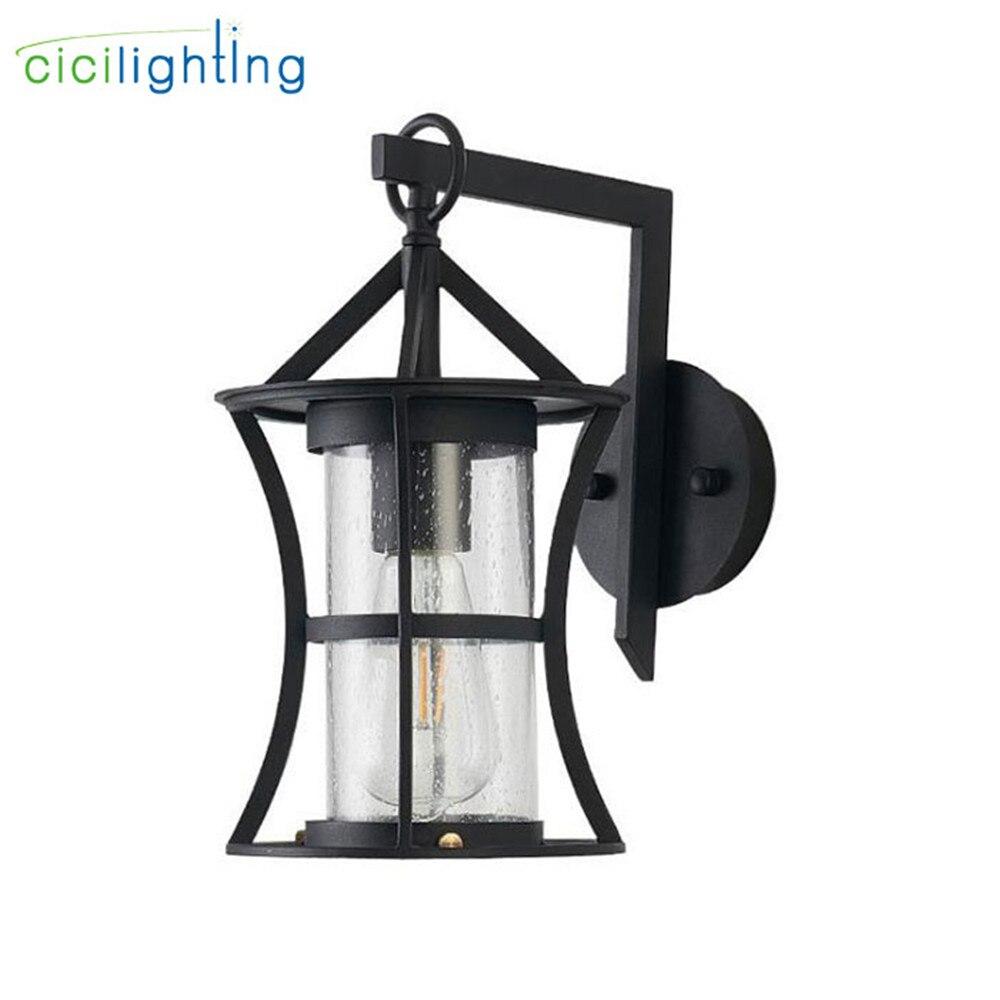 Скандинавский светодиодный настенный светильник, наружный светильник, стеклянный абажур, наружный настенный светильник для двора, крыльца