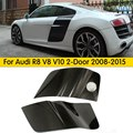 1Pair+DOUBLE-SIDED CARBON//R8 V8 V10 Carbon Fiber Side Door Side Panel Blade Panels Side Scoop for Audi R8 V8 V10 2 Door 2008-15