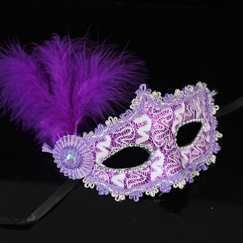 Fashion Small Cap <font><b>Lace</b></font> Ball <font><b>Mask</b></font> Women Girl Party Cosplay Masquerade Dance Bar <font><b>Sexy</b></font> Carnival <font><b>Halloween</b></font> feather Half Face <font><b>Mask</b></font> image