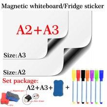 2 шт гибкая магнитная доска a2 + a3