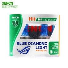 XENCN H4 12V 60/55W 5300K синий бриллиант автомобильный светильник более яркий УФ-фильтр галогенная супер белая головная лампа 30% больше