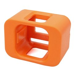 Anti-sink Waterproof Protection Floating Shell cover r for Gopro Hero 3/4/5 Session Sports Action Camera Accessory Orange
