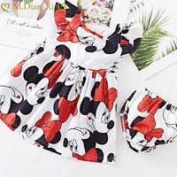 Vestido de verano de manga voladora para bebé, ropa interior de algodón, Minnie, 2 uds.