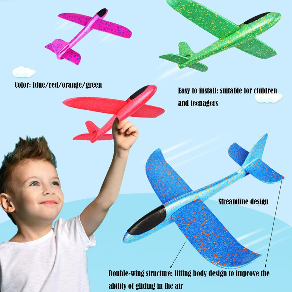 48cm Big Hand Throw Airplane Flying Foam Glider Plane Inertia Aircraft Toy Hand Launch Mini Airplane Outdoor Toys Gift for Kids image