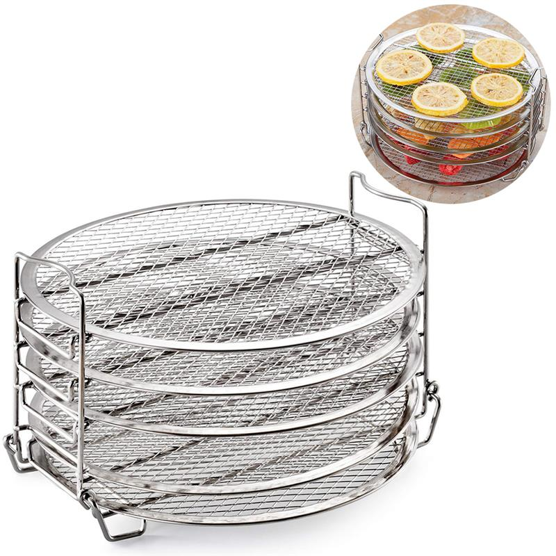 Kapmore Cooking Dehydrator Rack Creative 5-Layer Dehydrator Stand Rack Grill Rack For Air Fryer Home Cooking Baking Tools
