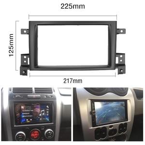 Image 5 - 2 Din Frame for Suzuki Grand Vitara 2005~2017 Douuble Din Radio Fascia DVD Panel Dash Kit Installation Frame Trim Bezel