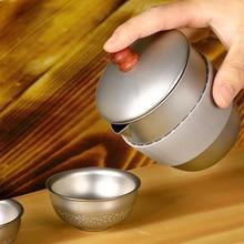 التيتانيوم إبريق القهوة الخادم 300 مللي التيتانيوم إبريق قهوة غلاية قهوة بروير باريستا مزحلة واضح مع الشاي المساعد على التحلل تصفية