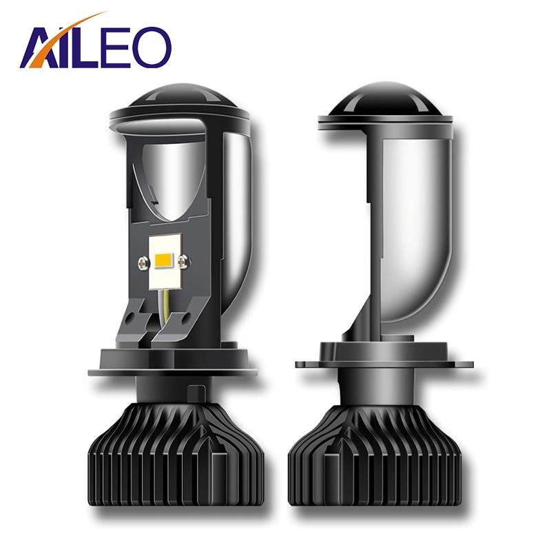 Миниатюрные светодиодсветодиодный автомобильные лампы AILEO Canbus, лампы для прожекторов H4, 200 лм, комплект для преобразования дачи/слабого све...