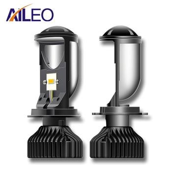 AILEO Canbus 90W/Pair Lamp H4 LED Mini Projector Lens Automobles Bulb 20000LM Conversion Kit Hi/Lo Beam Headlight 12V24V RHD LHD