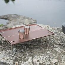 Напольный портативный кемпинг стол из алюминиевого сплава складной