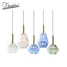 Nordic LED Iron Art Glass Pendant Lights Lighting Luxury Dining Living Room Pendant Lamp Bedroom Bar Loft Home Deco Hanging Lamp new nordic led pendant lights lamp crystal metal pendant lamp modern lighting fixtures for dining room living room bar art deco