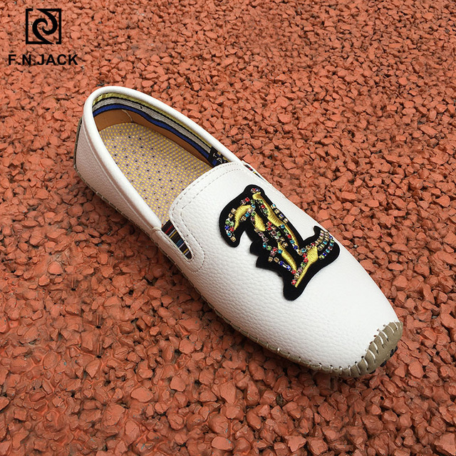 F.N.JACK Loafers Sneakers men Cow leather Mocassin men homme Zapatos de hombre Mens casual natural leather loafers Shoes