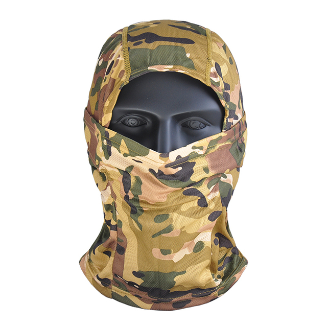 Airsoft Multicam Camouflage Tactical Paintball Wargame Military Airsoft Army Helmet Liner Protection Full Face Cap Mask for CS 1