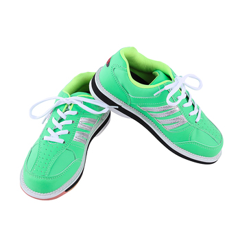 Bowling Shoes For Women Beginners Indoor Sports Shoes Skidproof Sole Bowling Shoes Leather Flat Training Shoes Sneaker