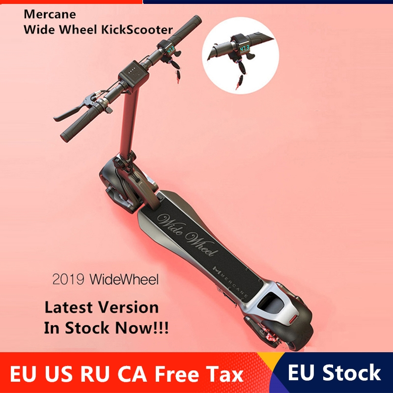 EU Stock New Mercane WideWheel Smart Electric Scooter Wide Wheel 48V 500W / 1000W Kickscooter Two Wheel Dual Motor Skateboard