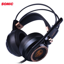 Somic G941 USB Gaming Headset Aktive Noise Cancelling 7,1 Virtuelle Surround Sound Kopfhörer mit Mic Vibrierende für PC Upgrade
