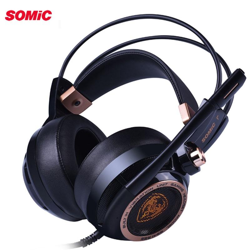 Somic G941 casque de jeu USB suppression Active du bruit 7.1 casque de son Surround virtuel avec micro vibrant pour mise à niveau PC