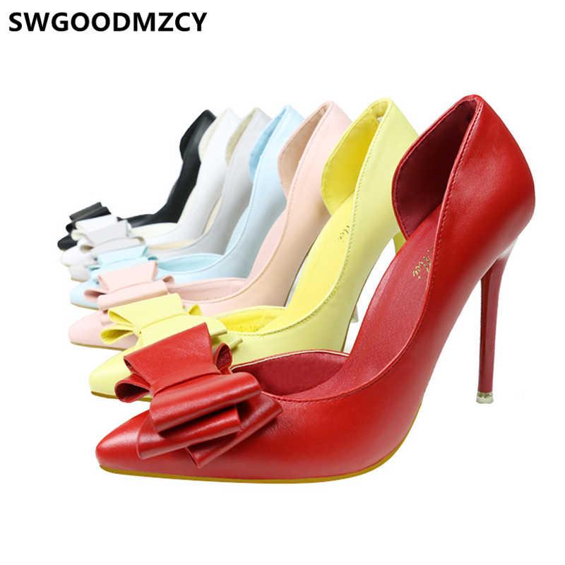 Sevgililer ayakkabı lüks topuklu zarif ayakkabı kadın stiletto sarı topuklu bayan pompaları extreme yüksek topuklu parti ayakkabıları kadınlar için