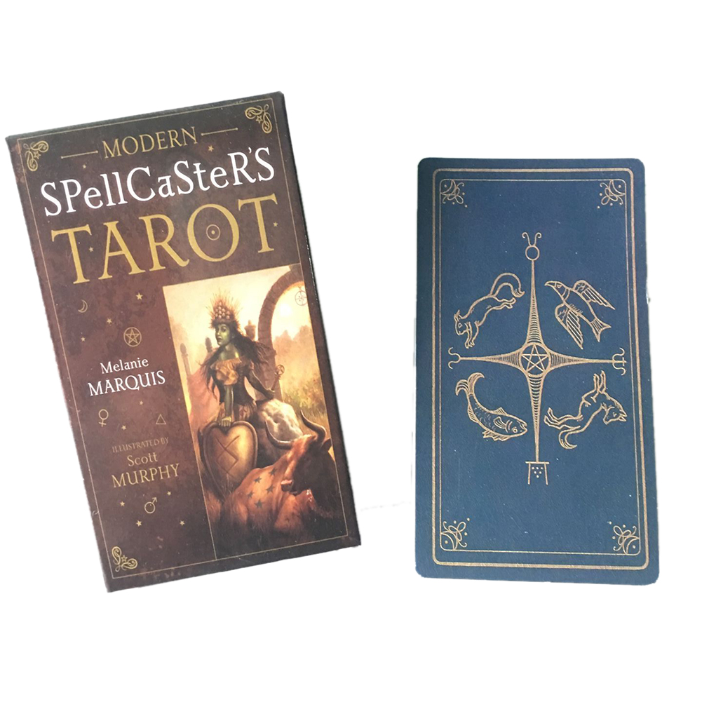 78pcs English Modern Spellcaster's Tarot Cards Board Games Deck Table Tarot Game For Family Party Playing Card Entertainment