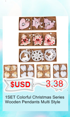 3PCS/lot Creative White Deer/Snowflake Wooden Pendants Christmas Tree Ornaments Decorations Xmas Wood Crafts Home Party Supplies 13