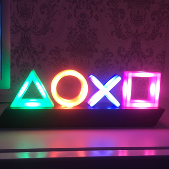 Voice Control Game Icon Light Acrylic Atmosphere Neon Dimmable Bar Atmosphere Lampara Club KTV Decorative Light Dropshipping