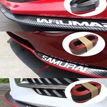 Автомобильный Универсальный передний бампер для губ из углеродного волокна, резиновый разветвитель, спойлер для подбородка, боковая юбка, ...
