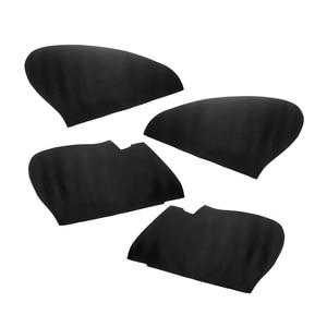 Image 2 - For Honda Fit / Jazz 2004 2005 2006 2007 Car Door Handle Armrest Panel Microfiber Leather Cover