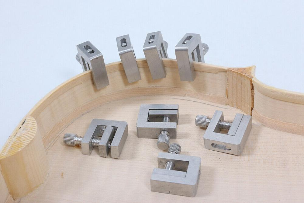 5pcs Violin Making Tools Fix Repair Violin Cracks Set Up Violin Side Wood Clamp