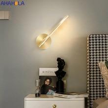 Modern Led duvar ışığı fikstür altın boyalı duvar lambası merdiven aydınlatma yaratıcı aplik lambaları başucu lambası banyo aynası ışık