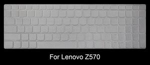 Image 2 - HRH wyczyść ultra cienki TPU klawiatura laptopa Protector pokrywa skóry dla Lenovo IdeaPad Z580 Z560 Z565 Z570 Z575 G580 Z585 Y50 Y510P
