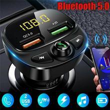 1x 12-24V uniwersalna ładowarka samochodowa USB do telefonu Bluetooth bezprzewodowy FM MP3 odtwarzacz ładowarka z podwójnym portem USB muzyki z karty TF tryb głośnomówiący zestaw samochodowy tanie tanio CN (pochodzenie) Bluetooth FM Transmitter china Cigarette lighter power Dropshipping 12V-24V DC 5V Bluetooth 5 0 About 10M