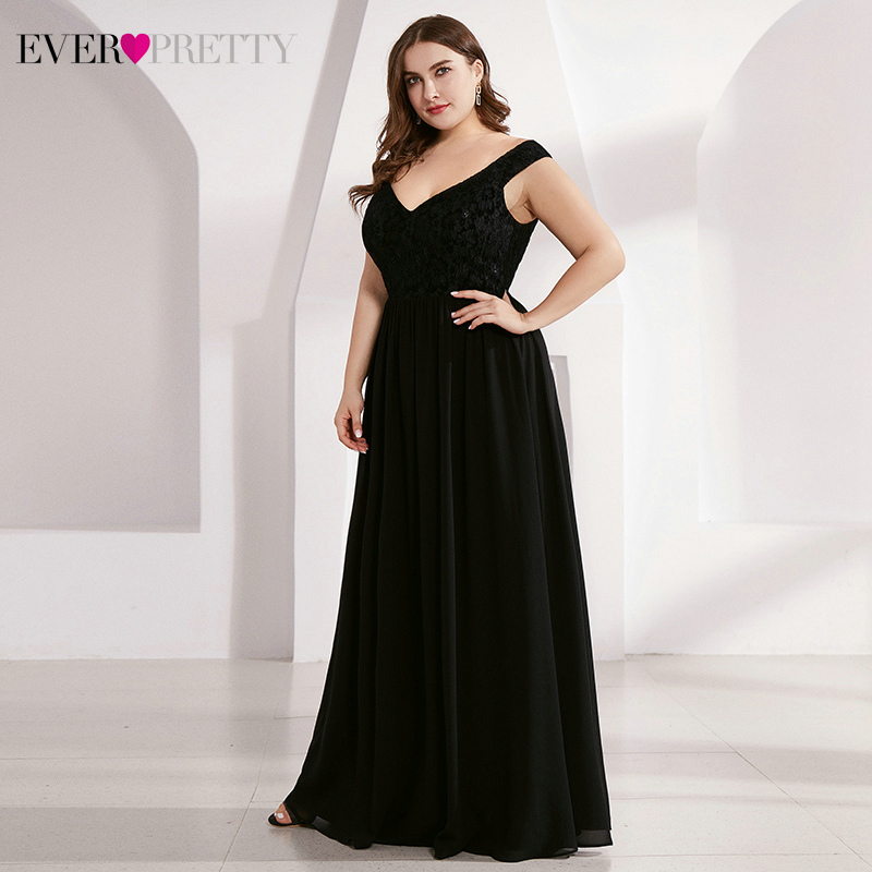 Plus Size Lace Mother Of The Bride Dresses Ever Pretty A-Line Deep V-Neck Sleeveless Farsali Elegant Mother Dresses Vestidos