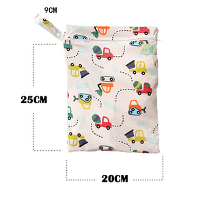 Image 5 - SLAIXIU Diaper Storage Bag  Reusable Waterproof Fashion Print Wet/Dry Bag Nappy Bags Travel Nappy Big Capacity Mummy Diaper Bag
