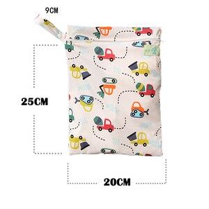 Image 5 - Slaixiu おむつ収納袋再利用可能な防水ファッションプリントウェット/ドライバッグおむつバッグ旅行おむつ大容量ミイラおむつバッグ