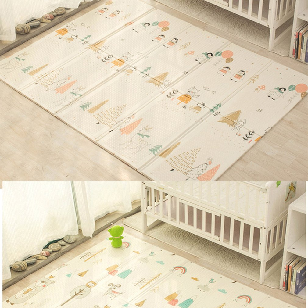 Portable Foldable Baby Climbing Play Mat Xpe Puzzle Children's Mat Thickened Baby Room Crawling Pad Game Blanket Baby Carpet