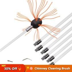Schornstein Pinsel-Elektrische Bohrer Stick Kehr Reinigung Werkzeug Kits Mit Verstärkt Nylon Flexible Stangen Für Sauber Die Kamin
