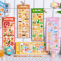 2 Pcs Niedliche Cartoon-Tier Bär Deco Aufkleber Scrapbooking Stick Label Tagebuch Album Aufkleber Kawaii Koreanische Schreibwaren Kunst Liefert