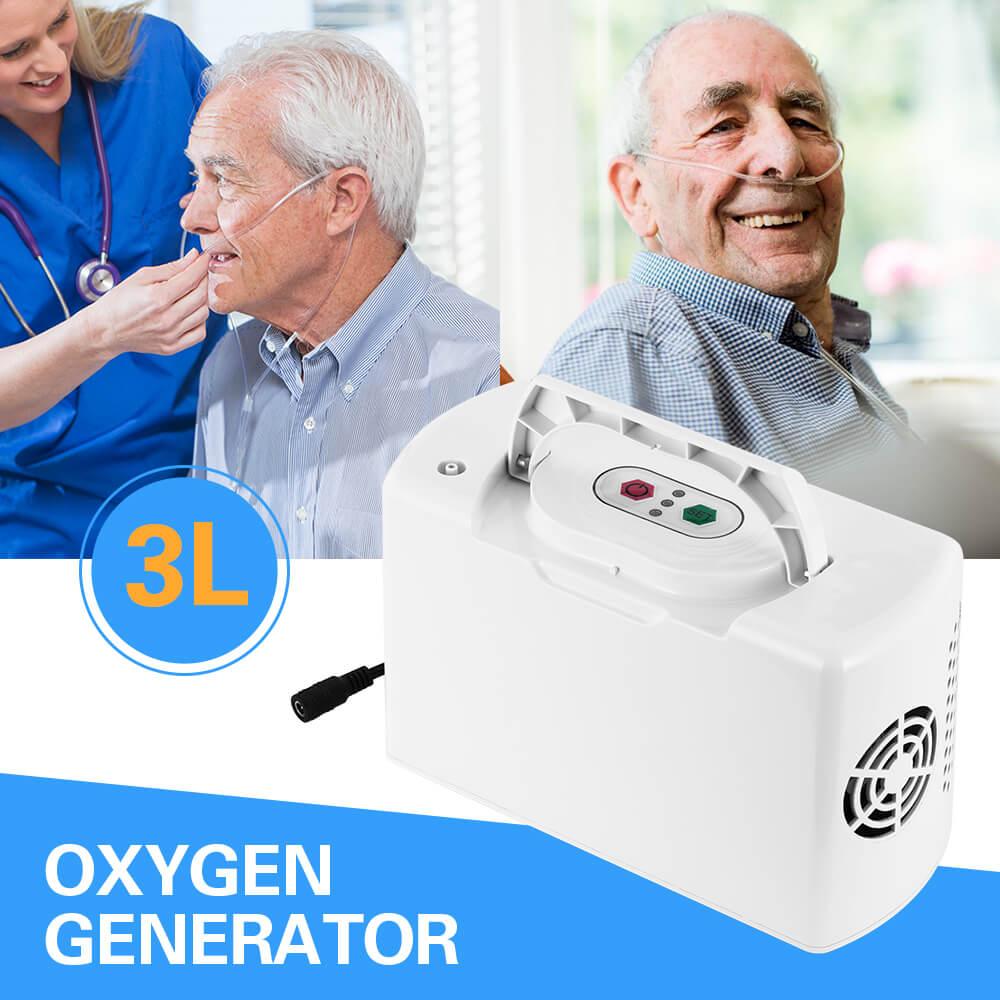 Tragbare Mini Sauerstoff Konzentrator Haushalt Auto Wiederaufladbare Sauerstoff Generator Inhalator Maschine Batterie Oxygenator Luft Reiniger