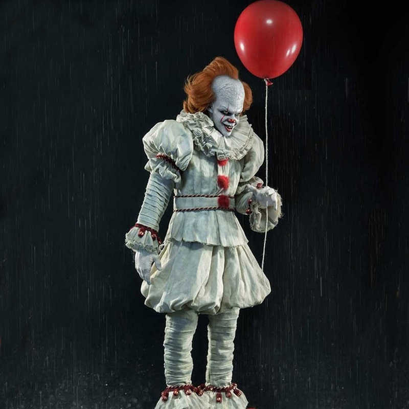 Adulto Unisex Clown Pennywise Cosplay Costume Stephen King Si Capitolo Due Horror Burlone Del Partito di Halloween Costume Con La Maschera C100804A