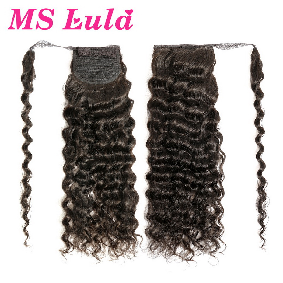 MS Lula Brazilian Curly Clip In Human Hair Extensions Gratuito Brasil Ponytail Human Hair Remy Hair Clips For Women 10-30 Inchs