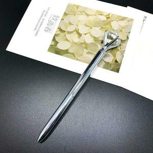 Image 4 - 500 pces/lote de diamante caneta grande gem cristal presente caneta pérola presente caneta feriado dhl entrega gratuita