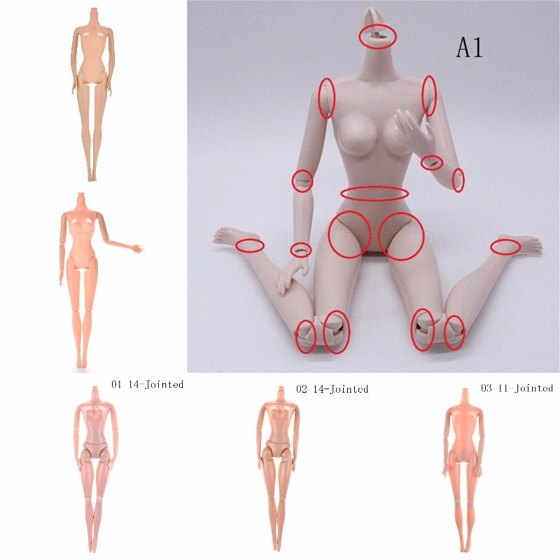 Hot DIY Fairytales Rotatable Joints Doll Nude Doll Naked Body Without Head For Dolls Joint Moving Naked Body Best Gifts For Girl