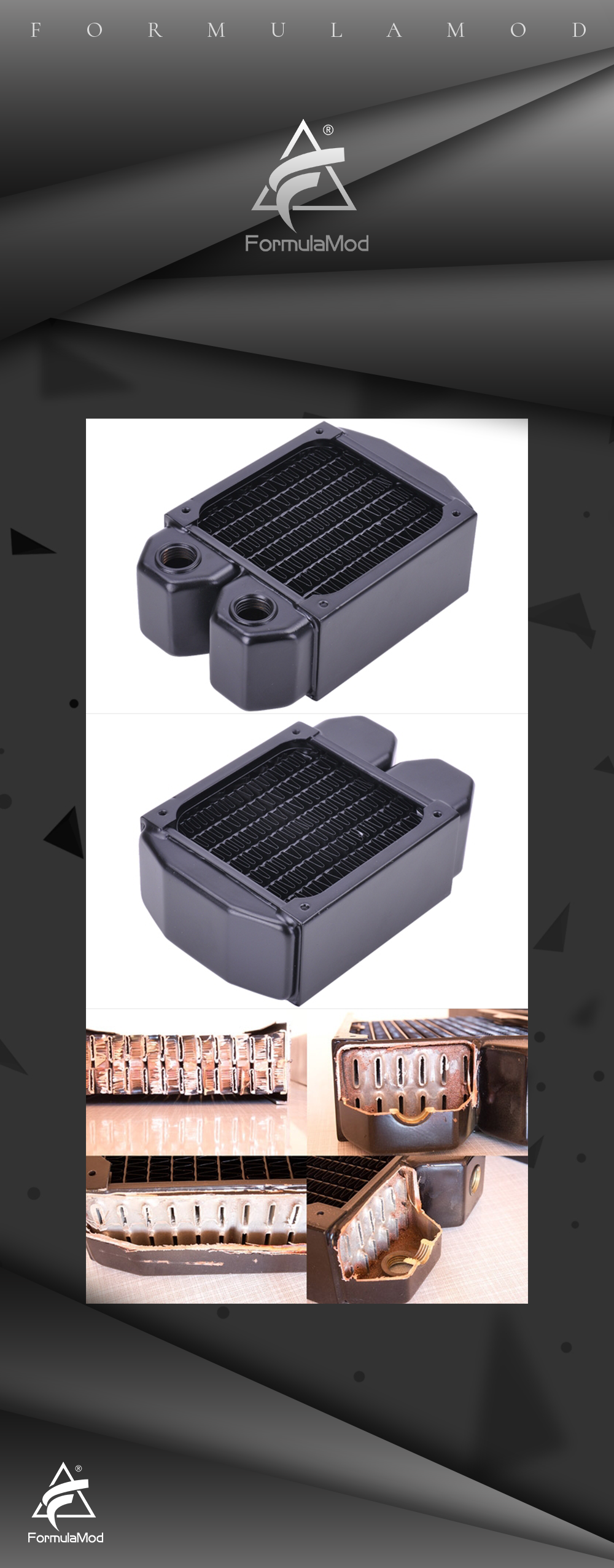 Cold row full copper radiator Alphacool NexXxoS XT45 1 * 80mm/80mm
