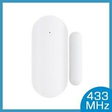 433MHz Porta Finestra di Allarme del Sensore Magnetico Senza Fili Interruttore Rilevatore di Contatto di Segnalazione per Intruder Sistema di Allarme di Sicurezza