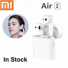 Original Xiaomi Airdots Pro 2 Wireless Bluetooth Earphone Air TWS Headset Touch Control Earbuds with Mic Sound True Headphones bluedio original t2 bluetooth wireless foldable headphones built in mic bt4 1 3d sound headset for cell phone xiaomi samsung