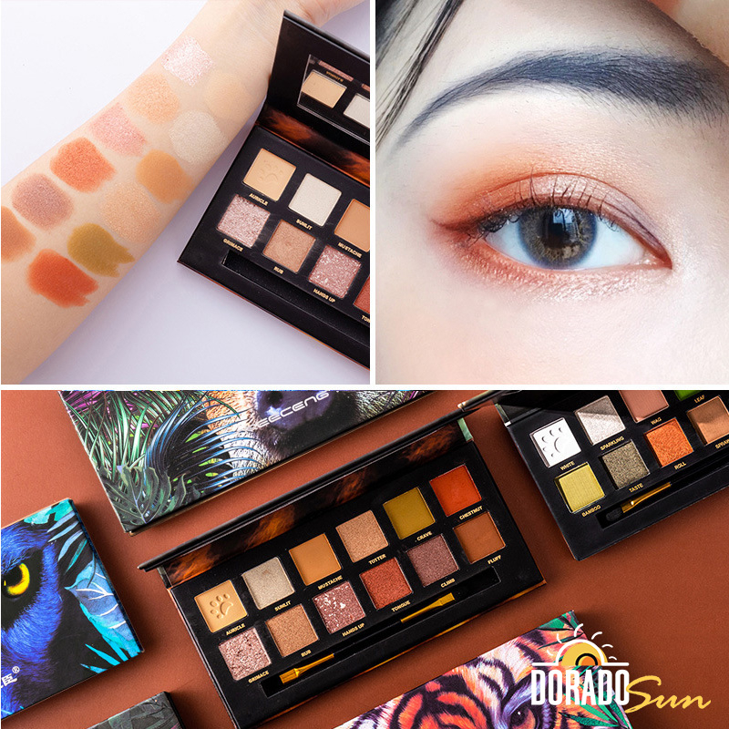 Doradosun 12 цветов, блестки для глаз, тигровый поросенок, блестящий макияж, тени для век, порошок с блестками, водостойкий