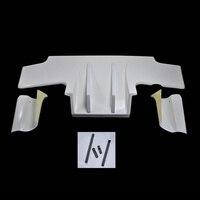 Rear Diffuser w/ Metal Fitting Car Accessories Exterior kit(5pcs) For Nissan Skyline R32 GTR TS Tape Type 2 FRP Fiber Unpainted