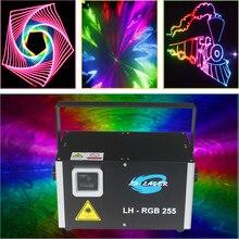ILDA رسم 3 واط RGB rgb كامل لون ضوء الليزر للسيارات جهاز عرض ليزر لمعرض السيارات والأحداث الأخرى
